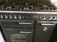 Black rang master 90cm gas cooker grill & double oven good condition with guarantee