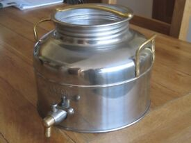 Italian 3 Ltr. Stainless Steel Olive Oil container with tap