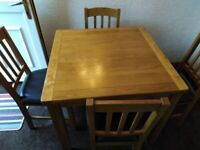 Ashwell Oak Veneer Dining table with 4 Chairs