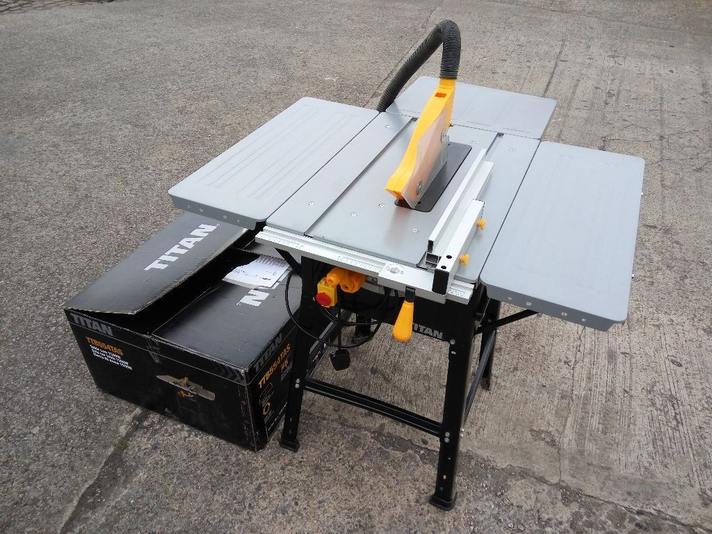 Titan Ttb674tas 254mm Table Saw Joinery Circular Tilting Power Saw In Sheffield South