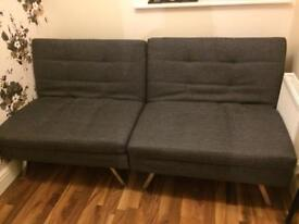 Hygena Duo 2 Seater Clic Clac Sofa Bed - Charcoal £160