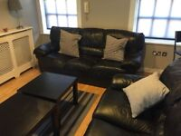 2x Leather Triple Seater Sofas - need to go ASAP!