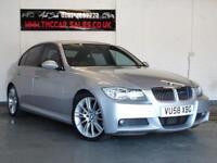 BMW 3 SERIES 3.0 325D M SPORT 4d AUTO 195 BHP RARE MSPORT (silver) 2008