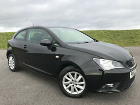 STUNNING 2012 SEAT IBIZA 1.4 SE FINISHED IN BLACK WITH FULL SERVICE HISTORY AND HPI CLEAR!