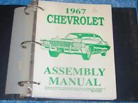 1967 CHEVROLET  ASSEMBLY MANUAL