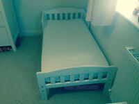 Mothercare bed and pocket sprung mattress