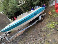 18ft speed boat 90hp Evinrude v4 speedboat