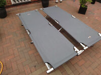 2 x Hi gear aluminium folding camp beds. Heavy Duty Light Weight