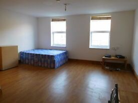 Large studio Flat, , wood flooring, furnished 2 minute walk to Dalston Kingsland Station N16 8JN