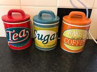 Ben de lisi tea coffee and sugar canisters