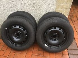 Winter tyres and steel rims