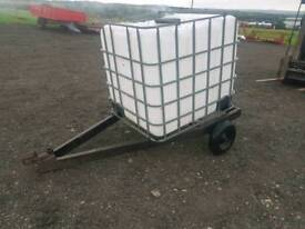 1000 litre water bowser tank with trailer tractor