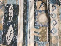 Curtains - Pale yellow/blue with an African/geometric design