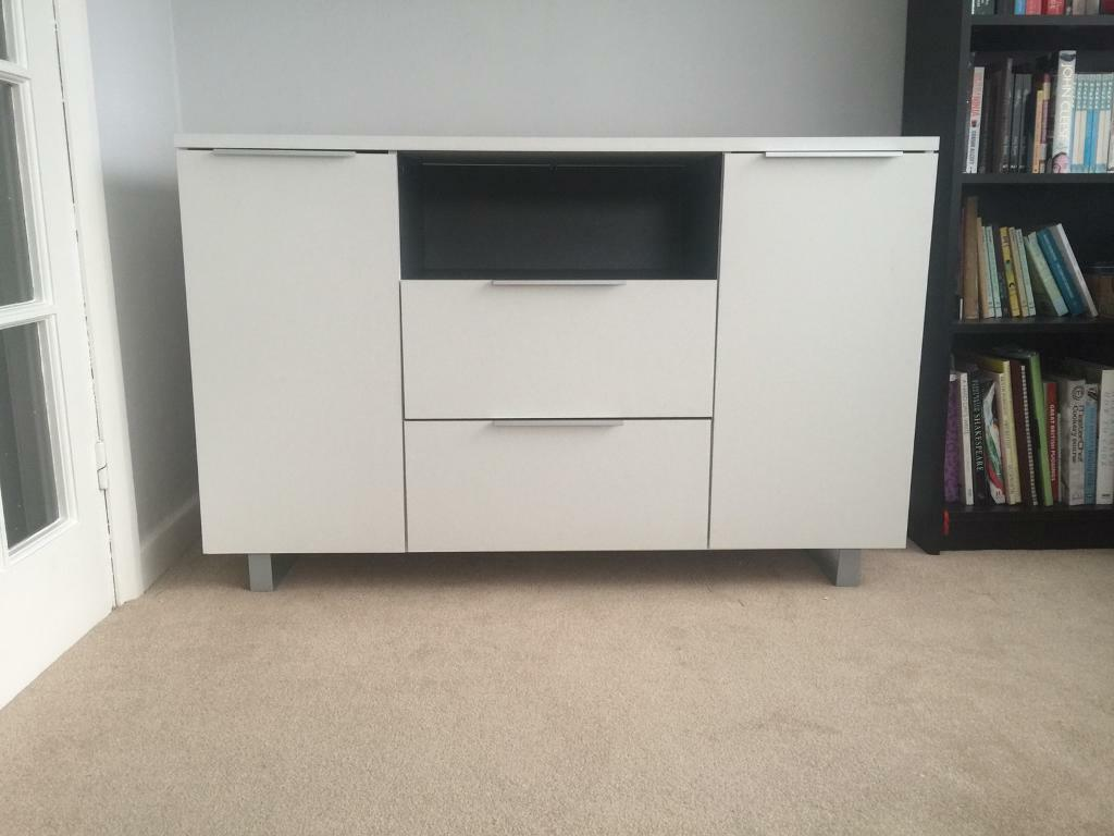 modern white sideboardcabinet unit  in alwoodley west yorkshire  - modern white sideboardcabinet unit