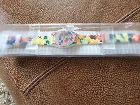 Ladies swatch watch brand new in packaging