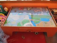ELC Play Table Roads on one side trains on the other