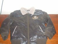 Disney's Mickey Mouse faux leather with fleece lining jacket size 6A