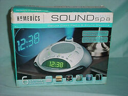 HoMedics Sound Spa Deluxe Clock Radio 6 Sound Machine & Time Projection SS-4000