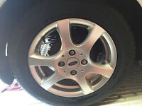 ford alloy wheels 4 stud 15inch with brand new 195/60/15 tires! £120!!