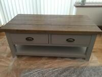 Cotswold Grey Oak coffee table and unit