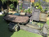 Complete carp fishin setup - Nash Fox Trakker Delkim Korda