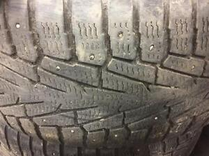 4 pneus d'hiver à clous, Nokian, Hakkapelita 7 SUV, 275/55/20, mesure 7-8/32.