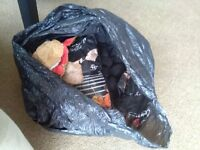 Small Black Bag Full of Instant light lumpwood Charcoal for Bbq Barbeque