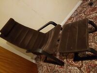 IKEA BROWN CHAIR & FOOTSTOOL VERY GOOD CONDITION