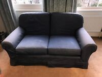 Blue sofa two seater 160 cm wide