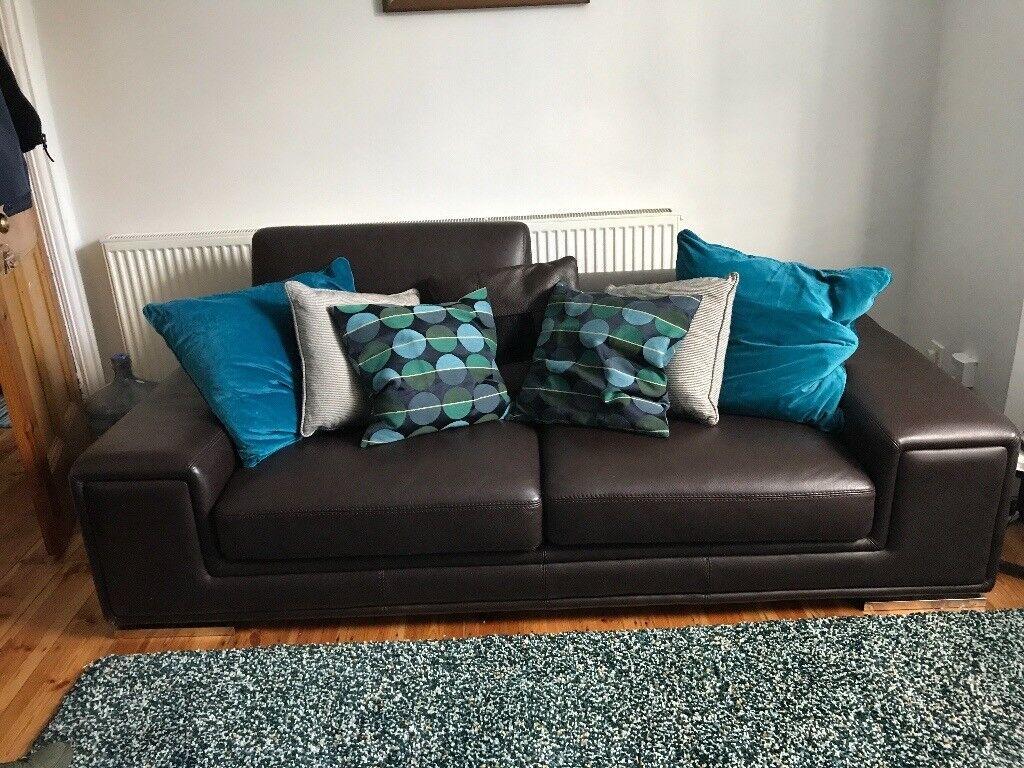 3.5 & 3 Seater Italian Leather Sofas