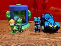 PJ masks Transforming figure tower & catboy vehicle