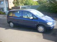 VAUXHALL ZAFIRA 1,6 LIFE petrol / 2004 MODEL /7 SEATER/TOWBAR. £925.