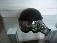 CEBE Visor helmet Fireball Matt Black Pink, Gold +yellow Flash Mirrors