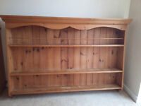 Large antique-style solid pine wall mountable Shelf