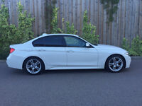 NEW SHAPE BMW 320D M SPORT 2012 (62) PLATE ALPINE WHITE 1/PERIVES OWNER
