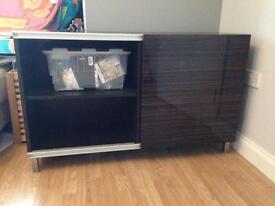 Ikea besta brown black tv unit