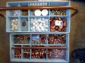 Box full of Plumbing & Heating Fittings