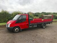 FORD TRANSIT 100t350 2.4 DIESEL 2007 07-REG 14FT DROPSIDE TRUCK WITH TAIL-LIFT MOT UNTIL AUGUST 2018