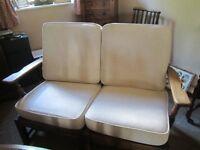 2 Seater Cottage Style Cream Sofa