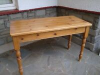 SMALL SOLID PINE TABLE 47 INCH LONG 21 INCH WIDE ONLY £35 FOR QUICK SALE