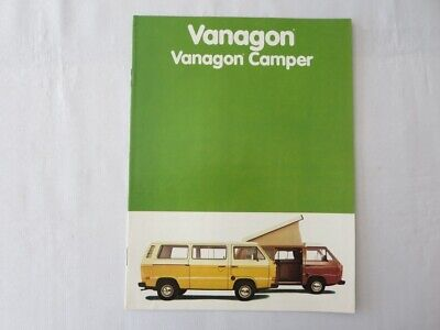 Used, 1981 Volkswagen VW Vanagon & Camper Sales Brochure Catalog  for sale  Toronto