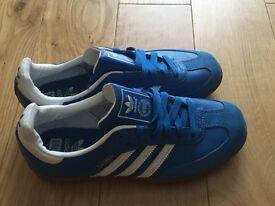 Adidas Blue Samba Trainers - Women or Child - UK Size 4.5