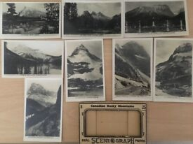 Vintage Photo Postcard Set of Rocky Mountains, Canada