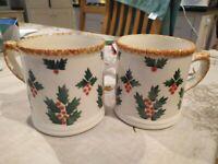 Laura Ashley vintage large Holly mugs X 2