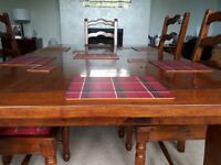 Dining Room table (extending) and 6 ladder back chairs