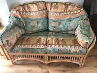 Bamboo cane sofa