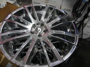 22 INCH DEMO USED CHROME RIMS - 5X108 - WHEEL SALE ON NOW!  MAJOR SALE