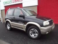 2002 SUZUKI GRAND VITARA SE 1.6 BLACK 3 DOOR JEEP ROOFRAILS TOWBAR not RAV 4 LAND ROVER FREELANDER