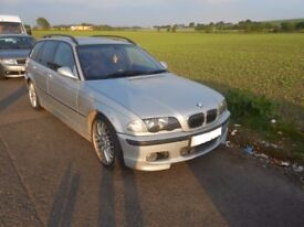 2001 BMW 330i E46 Touring M sport M54B30 BREAKING PARTS SPARES Titan silver leather interior xenon