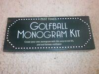 Golfball Monogram Kit